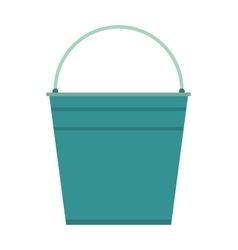 Empty bucket icon vector