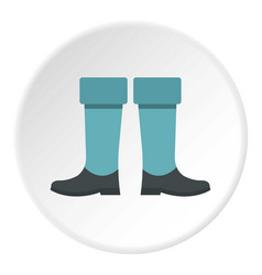 Fishing boots icon circle vector
