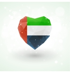 Flag of United Arab Emirates in shape diamond vector image
