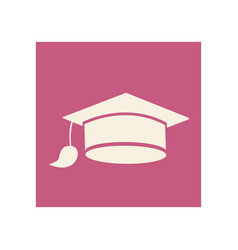 Flat graduation cap icon education vector