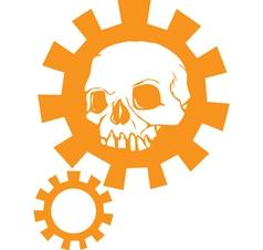 Gear Skull C vector image