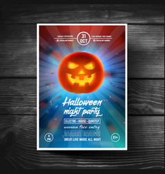 Halloween party flyer or leaflet covers banners vector