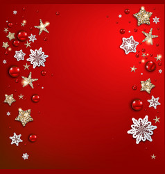 Holiday red christmas background vector