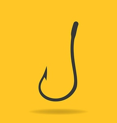Icon of Fishing Hook vector image vector image