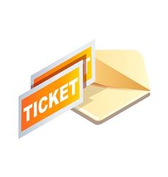 Icon tickets vector