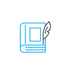 imaginative literature linear icon concept vector image