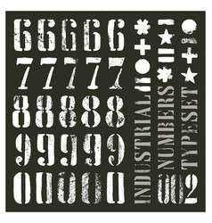 Industrial stencil numbers vector