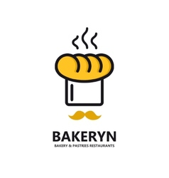 Logo for bakeries and restaurants vector
