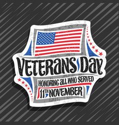 logo for veterans day vector image
