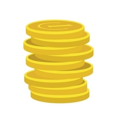 Lucky gold coin icon vector image