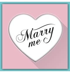 Marry me calligraphy card vector