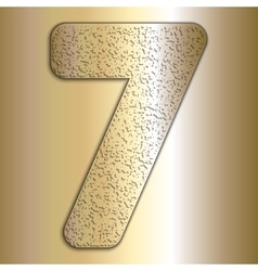 metalic gold digits with grain texture vector image