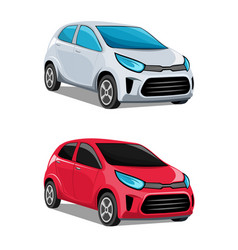 modern cars vector image