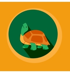 Modern Flat Design Turtle vector