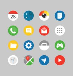 modern smartphones ui kit different application vector image