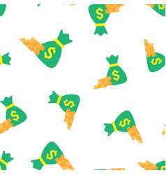 Money coins with money bag icon seamless pattern vector
