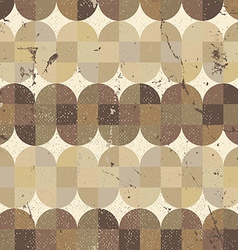 Old scratched and spotted mosaic seamless vector image