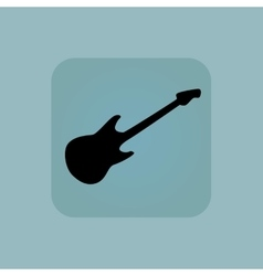 Pale blue guitar icon vector