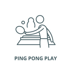 ping pong play line icon linear concept vector image