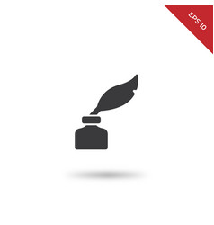 quill ink icon vector image