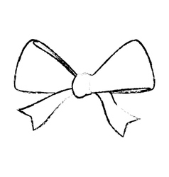 Ribbon bow icon image vector
