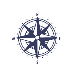 rose wind icon minimalist compass vector image