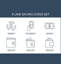 saving icons vector image