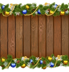 Seamless Christmas Board with Golden Beads vector
