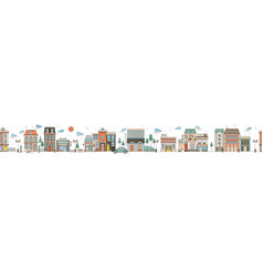 seamless horizontal urban landscape with city vector image