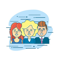Set businesspeople with hairstyle design and vector