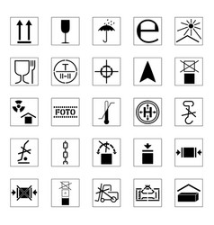 Set packing icons vector