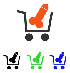 Sex shopping flat icon vector