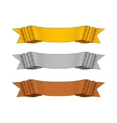 Shaded Ribbons for your Design Project vector image