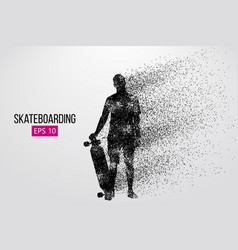Silhouette of a skateboarder vector