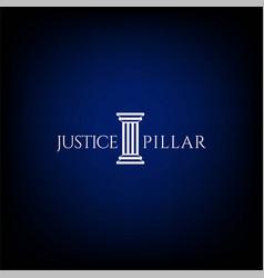Simple minimalist pillar attorney law firm logo vector