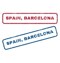 Spain Barcelona Rubber Stamps vector image