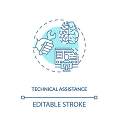 Technical assistance concept icon vector