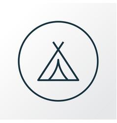 tent icon line symbol premium quality isolated vector image