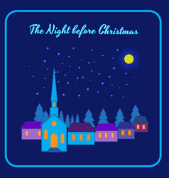 The night before christmas vector