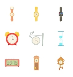 Time dimension icons set cartoon style vector image