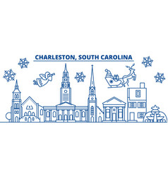 Usa south carolina charleston winter city vector