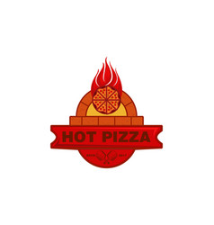 vintage italian pizza logo designs inspiration vector image