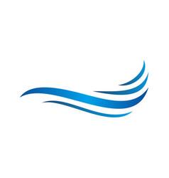 water wave symbols vector image