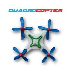 White quadrocopter vector image