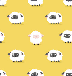 white sheep and black sheep pattern vector image