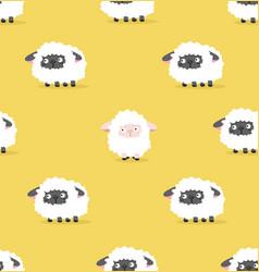 white sheep and black sheep pattern vector image