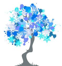 Winter - abstract tree vector