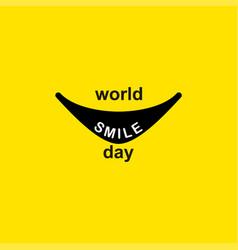 World smile day logo template design vector