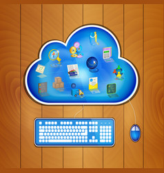 cloud computing solution for business concept vector image