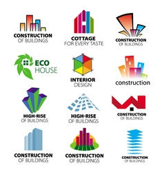 collection of logos construction and home i vector image vector image